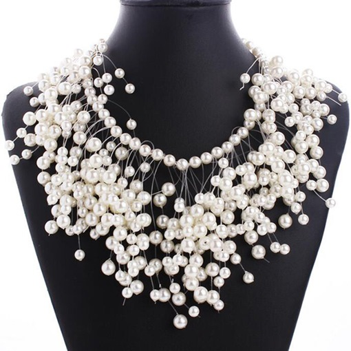 Romantic Snowing in Pearl Women's Necklace