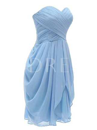Sweetheart Draped Short Bridesmaid Dress
