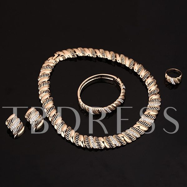 Roll Flower Wedding Women's Jewelry Set