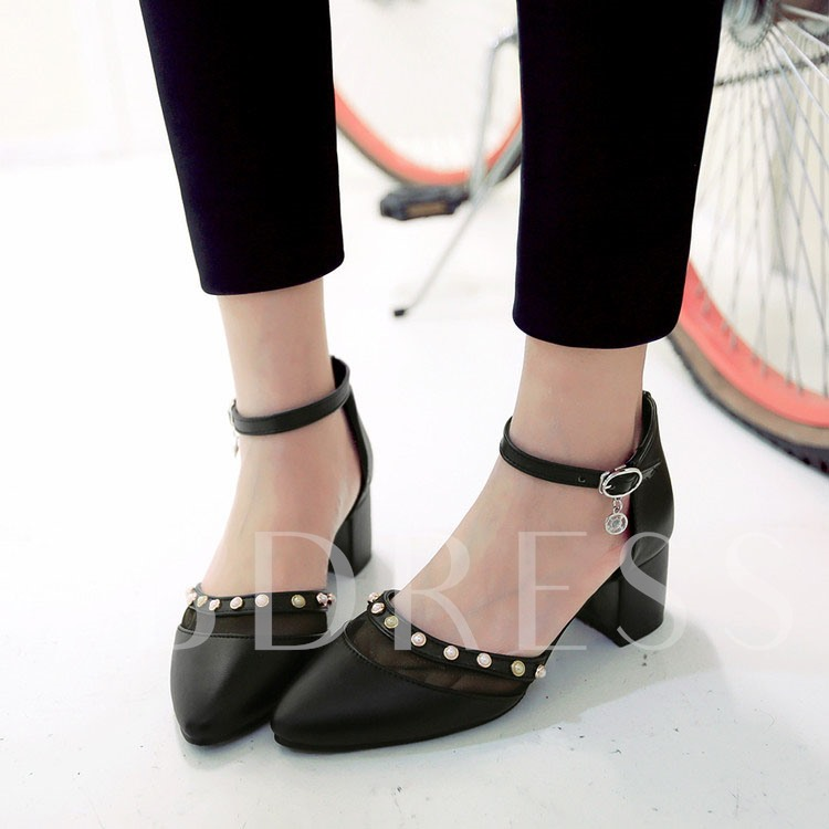 Closed Toe Chunky High Heel Women's Sandals