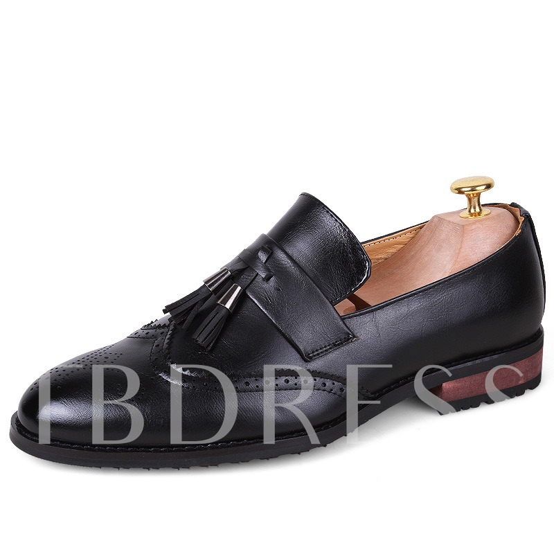 Square Toe Tassel Pointed Toe Men's Oxfords
