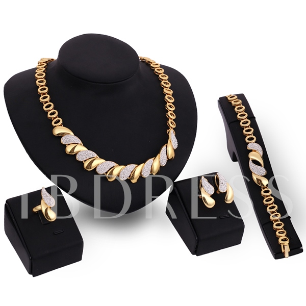 Shiny Water-Drop Women's Jewelry Set