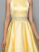A-Line Scoop Beading Sashes Short Cocktail Dress