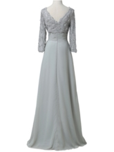 Sequins Lace Mother Of The Bride Dress with Long Sleeves