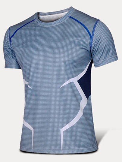 Men's Round Collar Breathable Quick-Drying Short Sleeve T-shirt