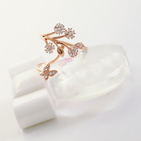 Korean Stars in the Tree Opened Style Women's Ring