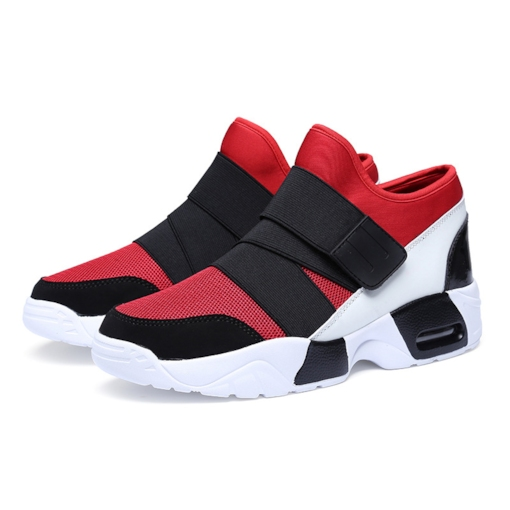 Elastic Band Round Toe Flat Heel Men's Sneakers