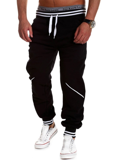 Men's Jogger Pants with Stripe Waist