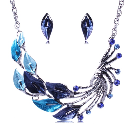 Wonderful Leaf Patchwork Jewelry Set