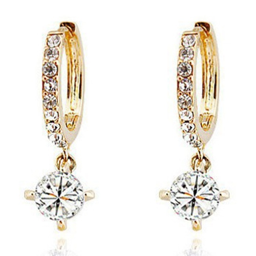 Fashion Pledge Love Rhinestone Pendant Women's Earrings