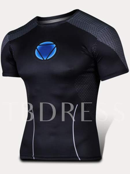 Men's Round Collar Breathable Quick-Drying Outdoor T-shirt