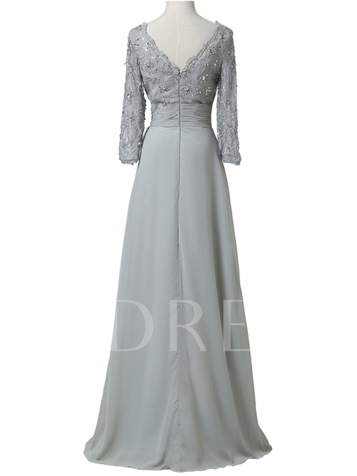 Appliques Long Sleeve Mother Of The Bride Dress