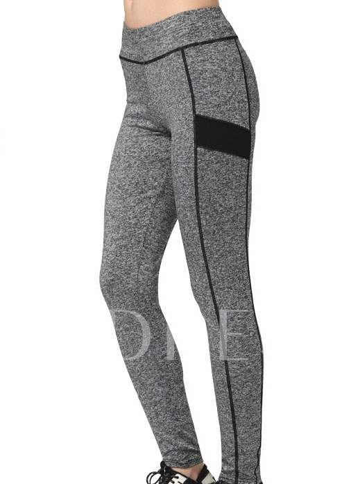 Striped Side High Waist Women's Yoga Pants (Plus Size Available)