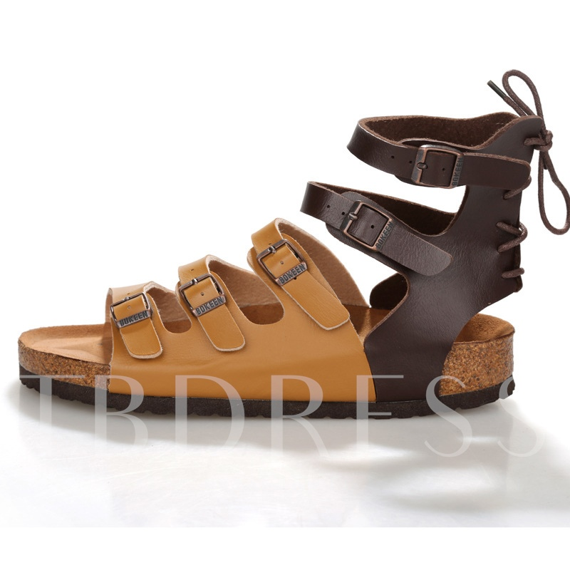 Buckle Flat Heel Flat Heel Men's Sandals