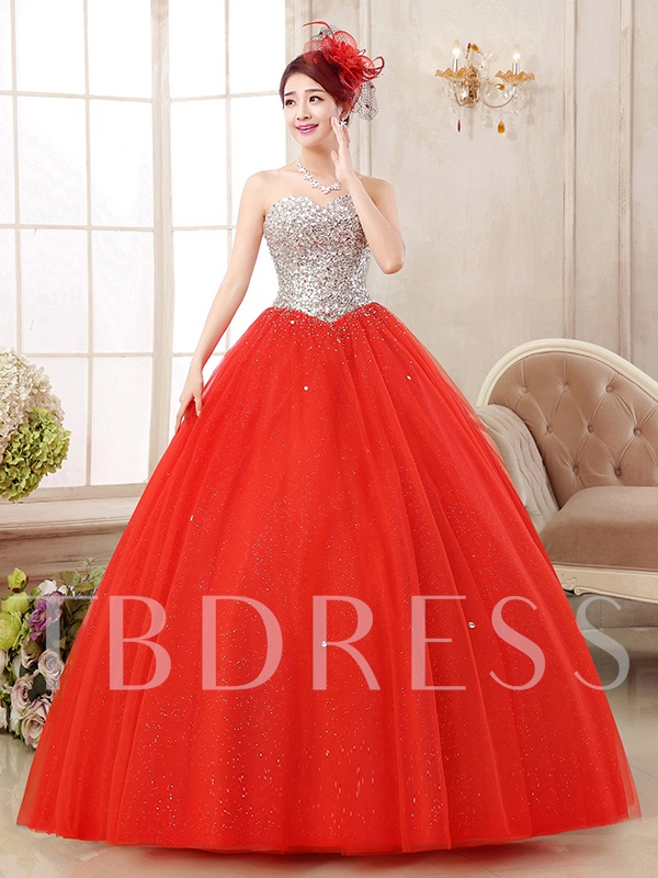 Sweetheart Sequins Ceystal Quinceanera Dress