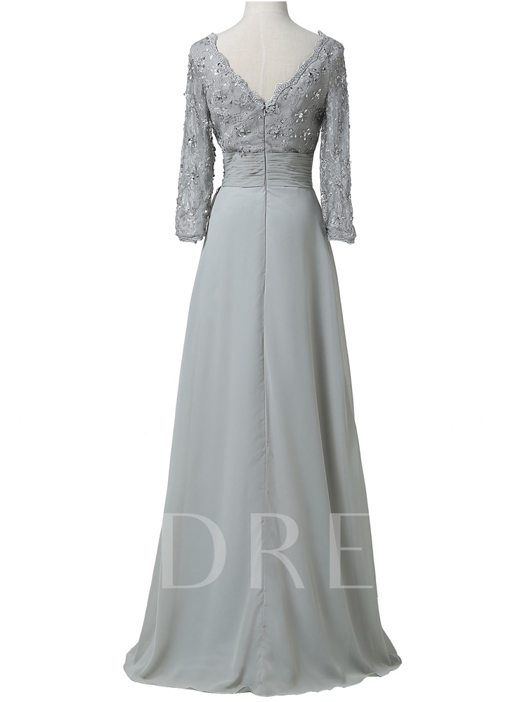 Sequins Lace Mother Of The Bride Dress with Long Sleeve