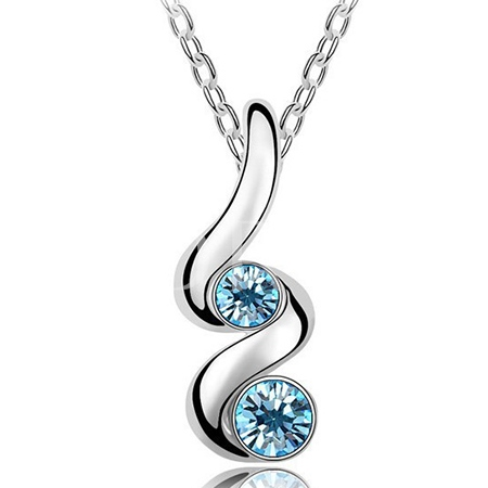 Fashion Snake Warp Silver with Gem Decor Jewelry Set
