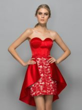 Sheath Sweetheart Appliques Lace Short Cocktail Dress
