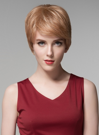 Good Quality 100% Human Hair Capless Wig 6 Inches