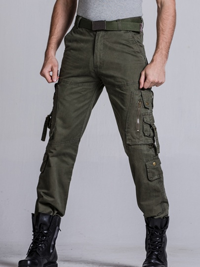 Men's Casual Zipper Pants with Hip Pocket