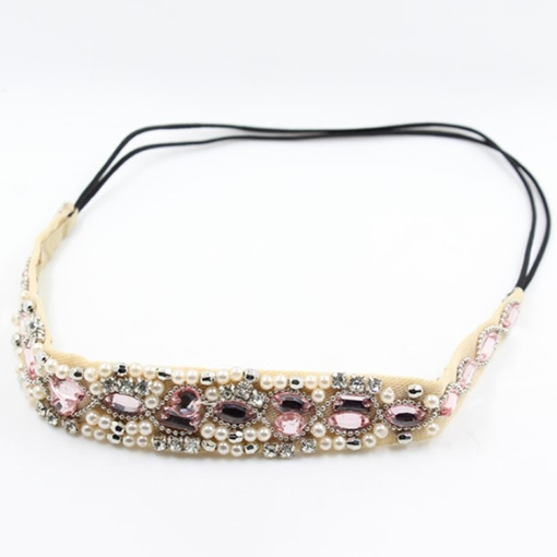 Manual Rhinestone Beaded Headband