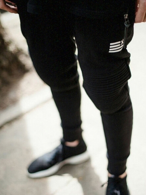 Men's Sports Pants with Zipper Pocket