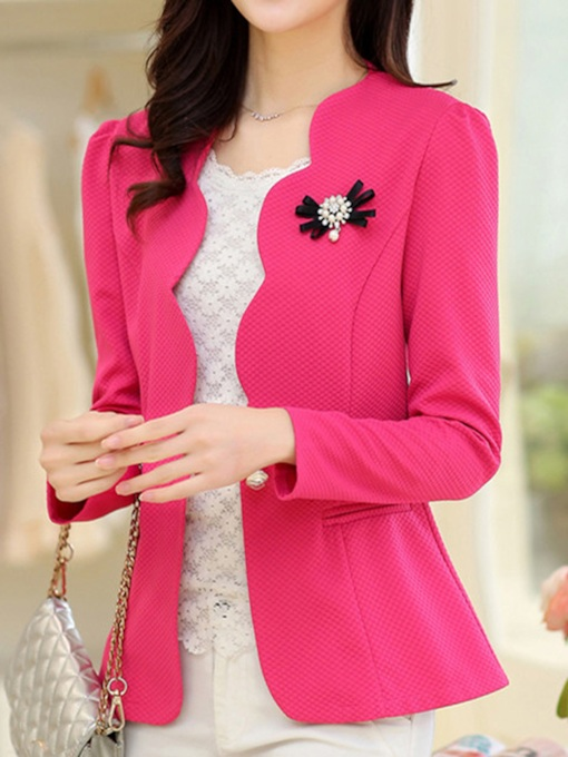 Long Sleeve Plain Fall Women's Casual Blazer