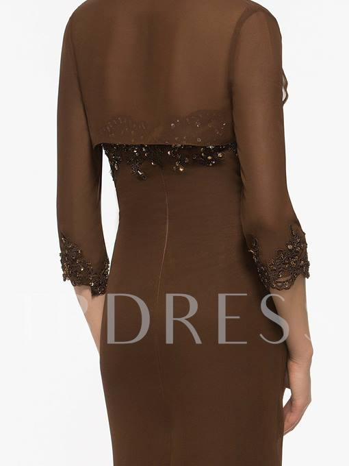 Split-Front Mother Of The Bride Dress With Jacket