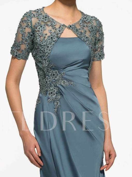 Appliques Mother Of The Bride Dress With Jacket