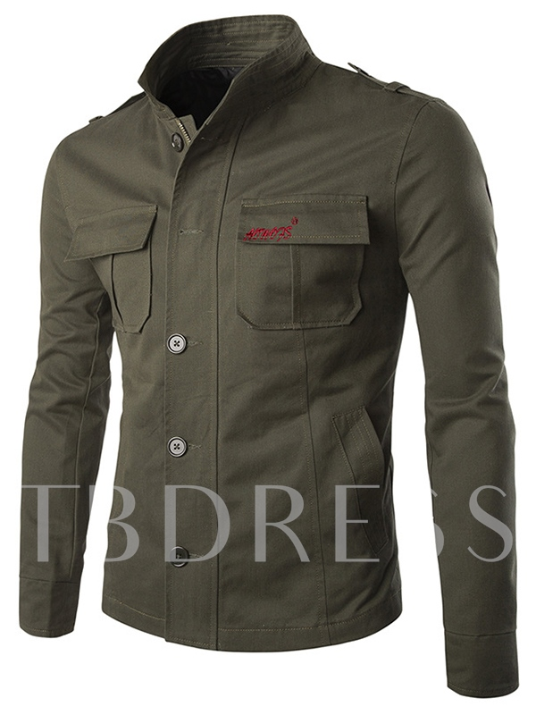Men's Jacket with Chest Pocket