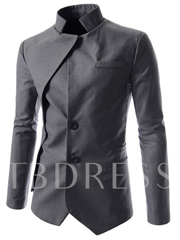 Men's Jacket with Stand Collar