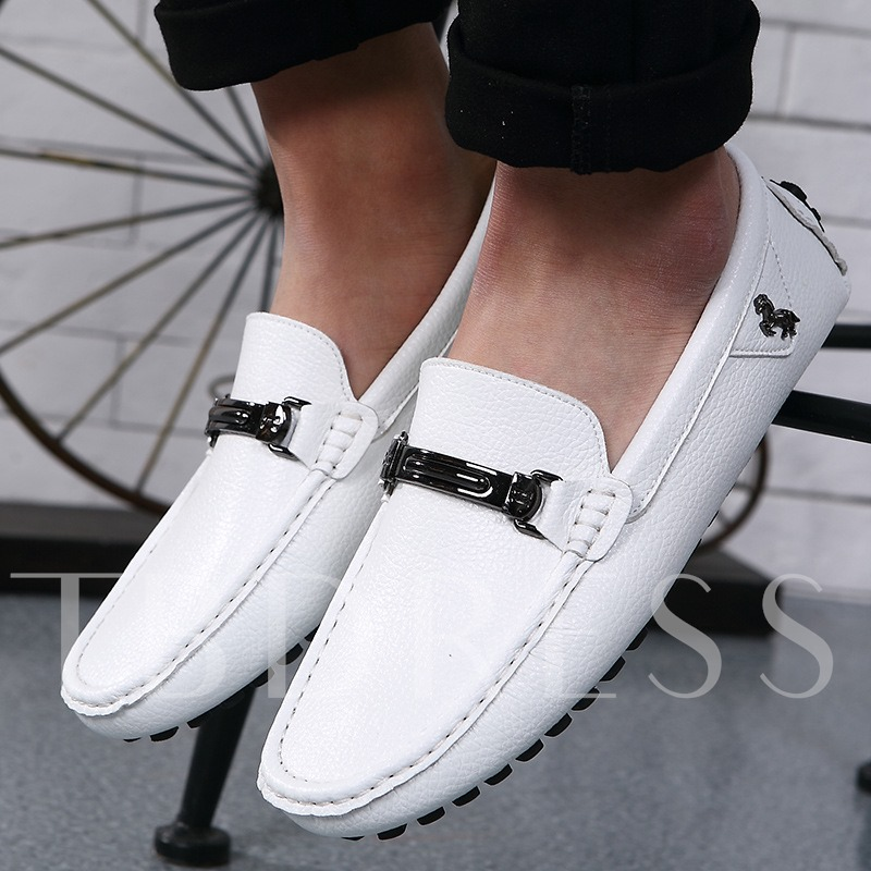 Square Toe Flat Heel Sequins Men's Loafers