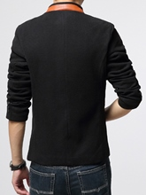 Masculine Stand Collar Single-Breasted Slim Fit Men's Casual Blazer