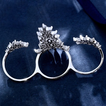 Personality Vogue Snow Queen Open Ring