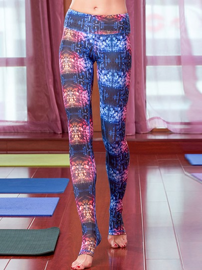 Starlight Printed Polyester Breathable Step Foot Women's Yoga Pants