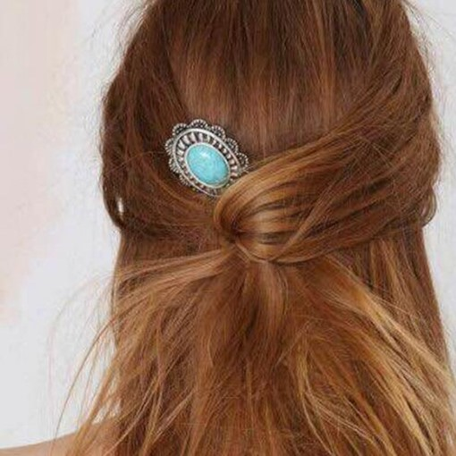 Turquoise Hair Metal Hairpin