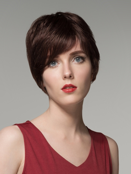 Hot Sale Short Straight Capless Human Hair Wig 6 Inches