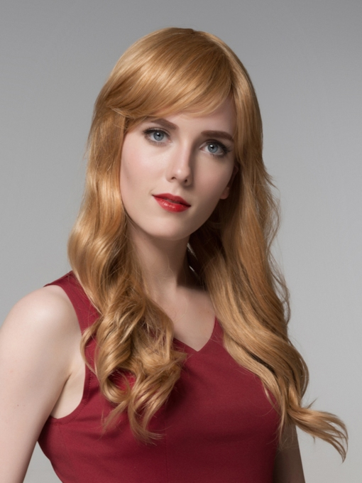 Charming Long Wavy Capless Human Hair Wig 24 Inches