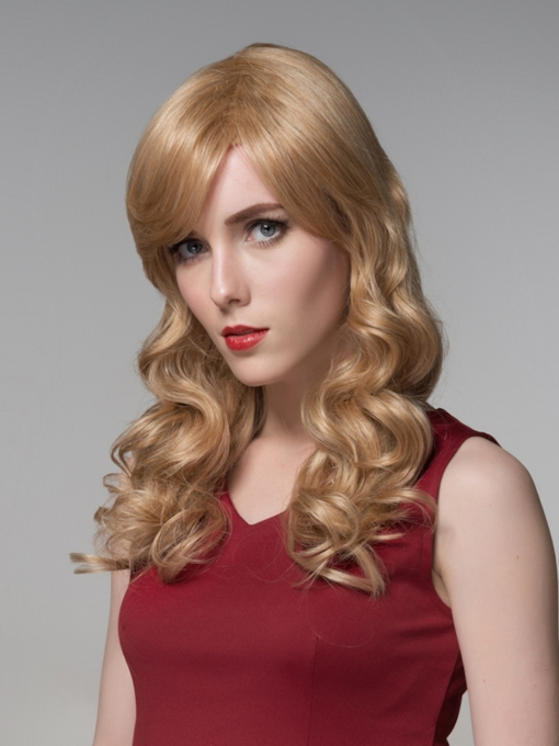 Attractive Long Romantic Wave Capless Human Hair 22 Inches