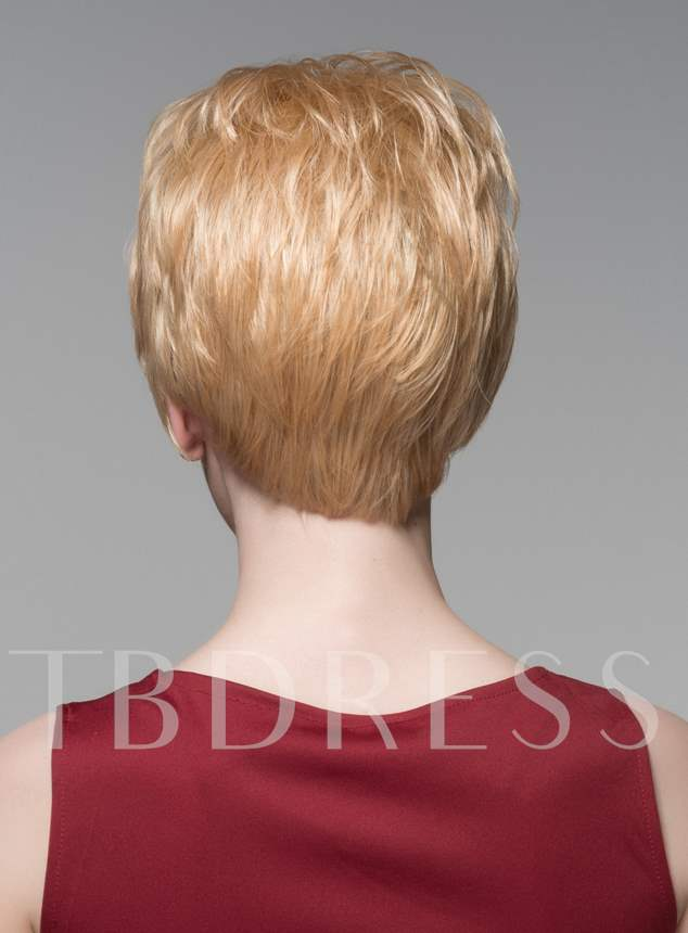 Layered Short Charming Wavy Human Hair Capless Wig 6 Inches