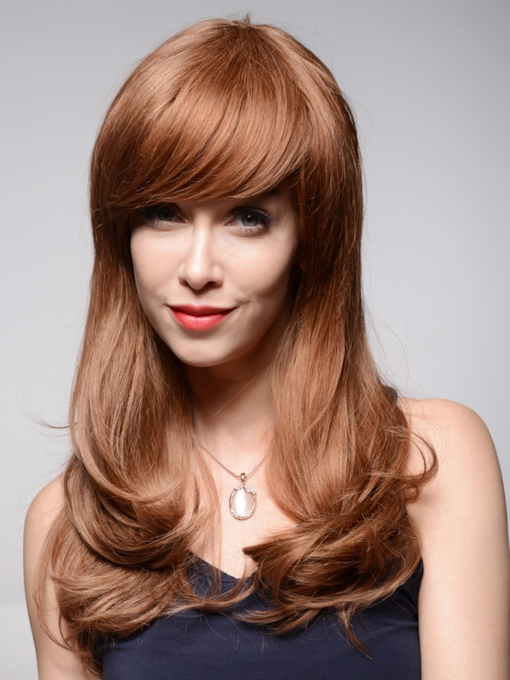 Beautiful Loose Wavy Short Human Hair Capless Wigs 22 Inches