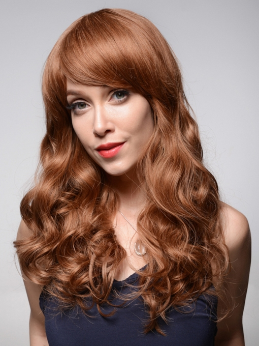 Wavy Long Loose Wave Human Hair Capless Wigs 22 Inches