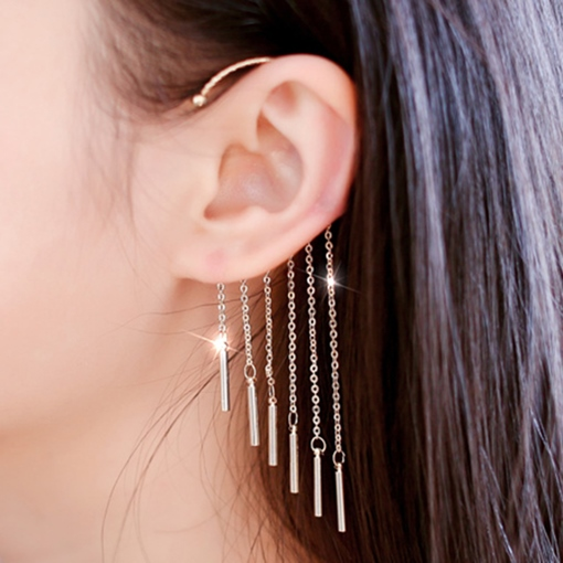Trendy Multilayer Tassels Ear Cuff