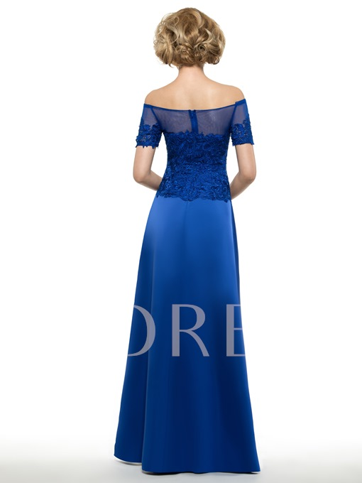 Off the Shoulder Lace Mother Of The Bride Dress