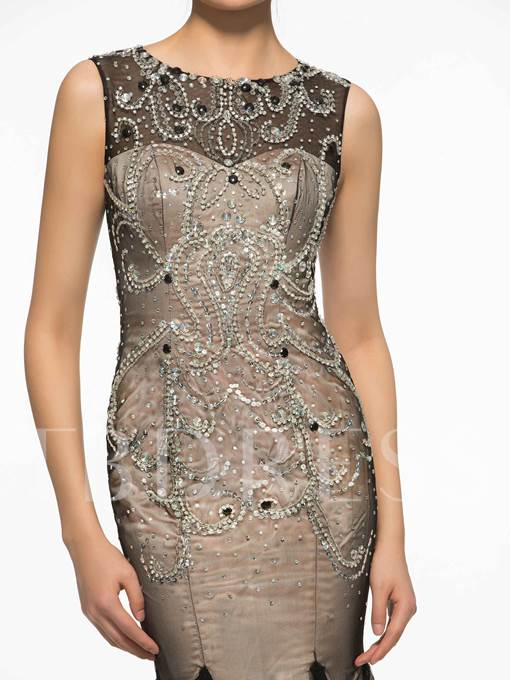 Button Beading Mermaid Mother Of The Bride Dress