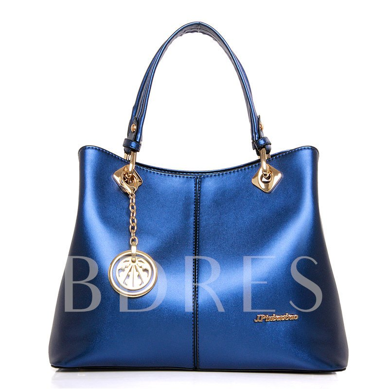 Boutique Glossy Handcee Metal Pendant Women's Tote Bag