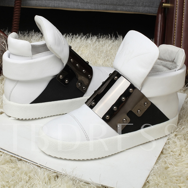 Round Toe Color Block Patchwork Men's Sneakers