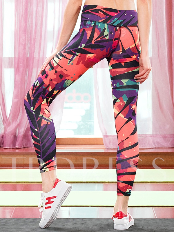 Dyed Expressionism Tight Women's Capri Pants