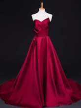 A-Line Sweetheart Appliques Beading Evening Dress