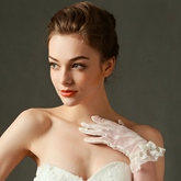 Lace Short Wedding Gloves